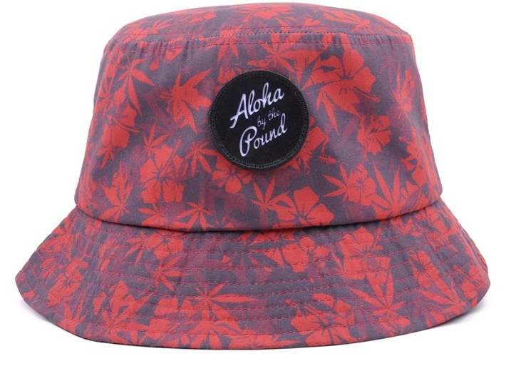 Bucket hat with embossed leather patch logo