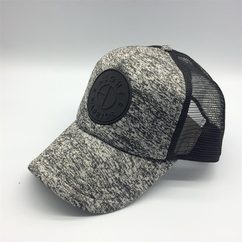 sublimated trucker cap leather patch design
