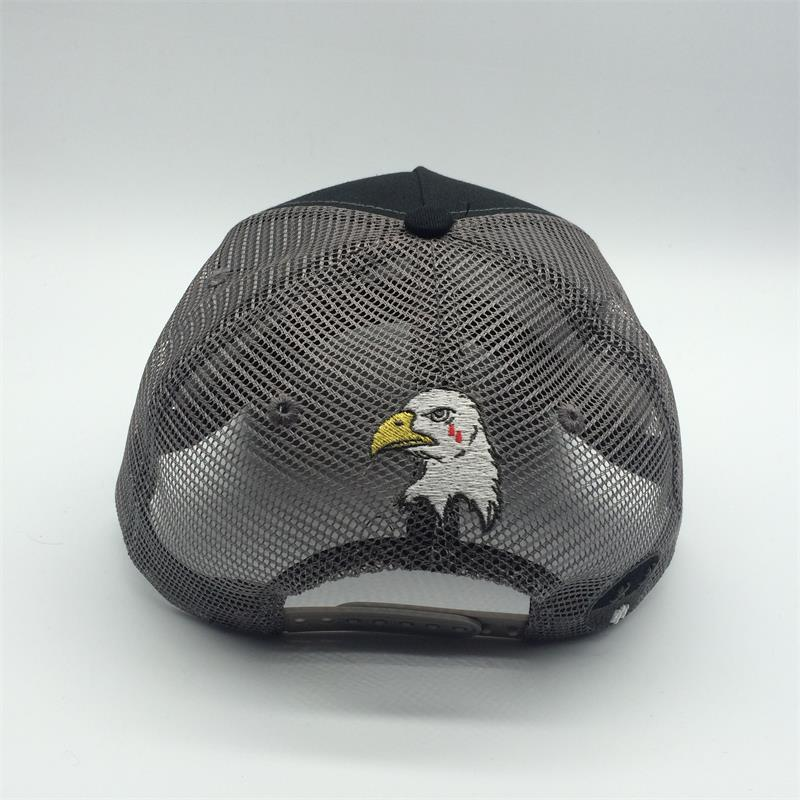 5 panel cotton trucker mesh cap 3D embroidery