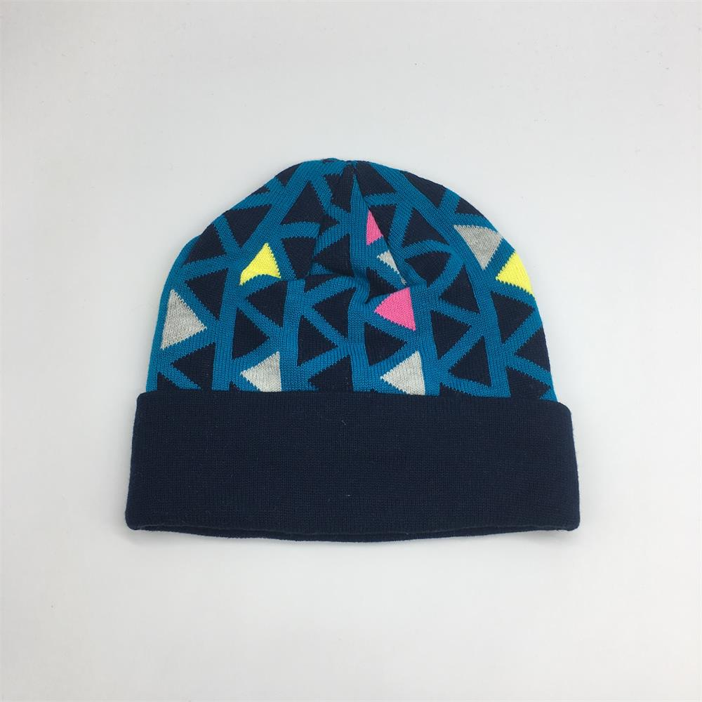 Beanies With Custom Embroidery Oem Acrylic Wholesale Knitted Winter Hats Custom Beanie