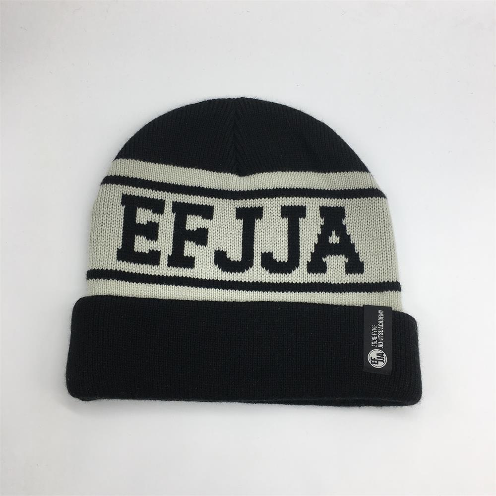 Hot sell promotion customize 100% acrylic winter beanie,knitted hats with woven label logo
